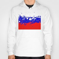russia Hoodies featuring into the sky, Russia by seb mcnulty