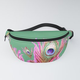 Peacock Plumes Fanny Pack