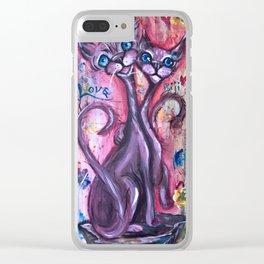 Les amoureux Clear iPhone Case