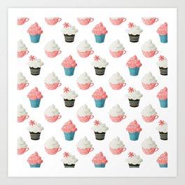Cupcake Sweets Party Art Print
