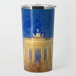 Modern Art BERLIN Brandenburg Gate Travel Mug