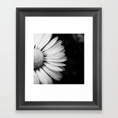 Black and White Flower Macro photography monochromatic photo Framed Art Print