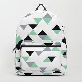 Triangles Mint Grey Backpack