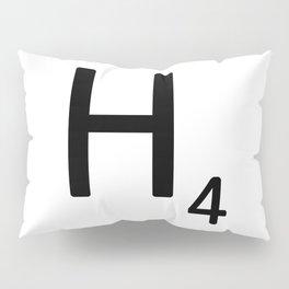 Letter H - Custom Scrabble Letter Tile Art - Scrabble H Pillow Sham