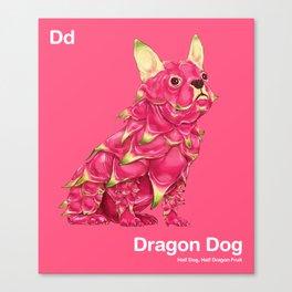 Dd - Dragon Dog // Half Dog, Half Dragon Fruit Canvas Print