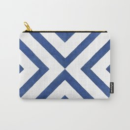 Geometrical modern navy blue watercolor abstract pattern Carry-All Pouch