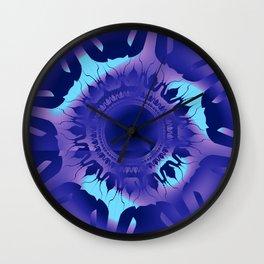Indigo Flurry Wall Clock