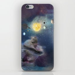 The wolf & space iPhone Skin