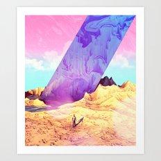 Oblique Plane Art Print