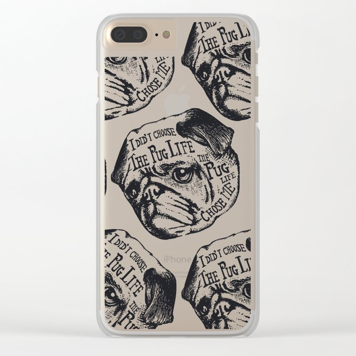 Pug Life Clear iPhone Case