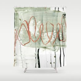 loops red Shower Curtain