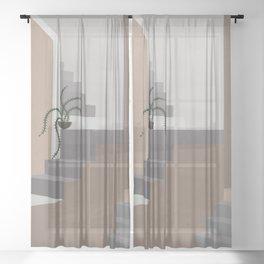 Stairs & Arc Sheer Curtain