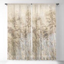 Riverside Grass Sheer Curtain
