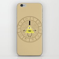 bill cipher iPhone & iPod Skins featuring Bill Cipher summoning by Rebecca McGoran