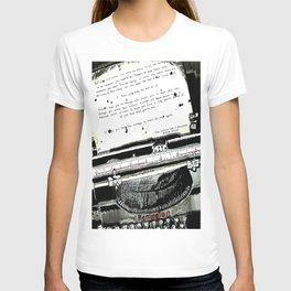Message in a Typewriter T-shirt