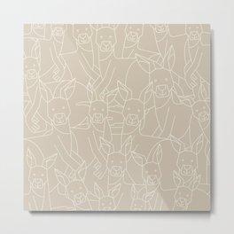 Minimalist Kangaroo Metal Print