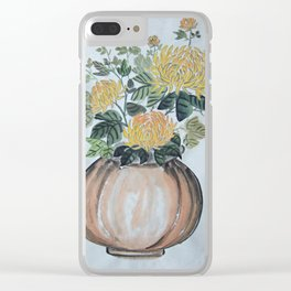 Chrysanthemum Flowers In The Vase Clear iPhone Case