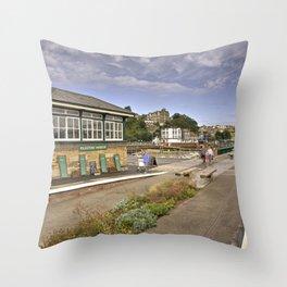 Folkestone Harbour Signalbox  Throw Pillow