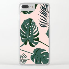 Tropical palm Clear iPhone Case