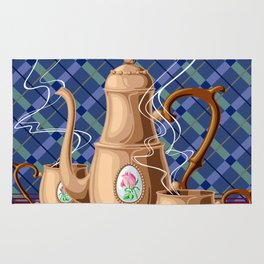 Coffee pot and two cups Rug