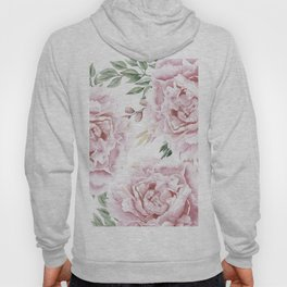 Beautiful Pink Watercolor Floral Bouquet Hoody