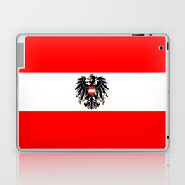 Austrian Flag and Coat of Arms Laptop & iPad Skin