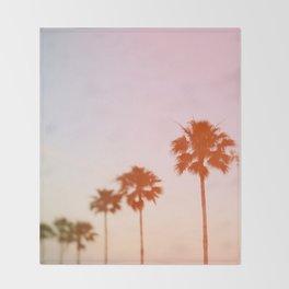 Summer Palms Throw Blanket