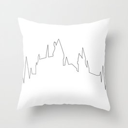 Hogwarts Heartbeat Throw Pillow