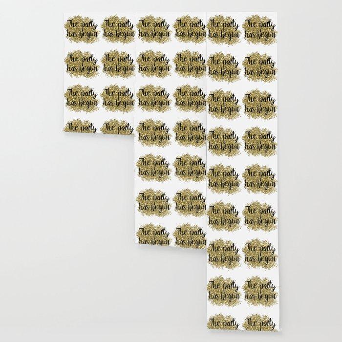 The party has begun - golden jazz Wallpaper