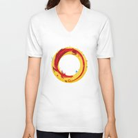 the hobbit V-neck T-shirts featuring Hobbit by Wharton