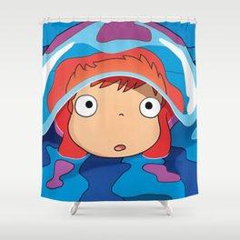 Ponyo Shower Curtain