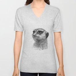 Meerkat-portrait G035 Unisex V-Neck