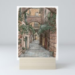 The streets of Dotalku Mini Art Print