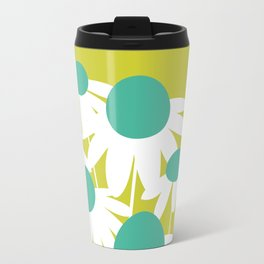 Flowers on Green by Friztin Travel Mug