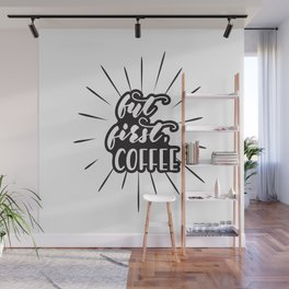 Coffee lettering Wall Mural