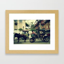 focus on the road ahead Framed Art Print