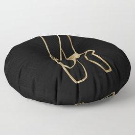 Ballet Dancer Gold on Black #1 #minimal #drawing #decor #art #society6 Floor Pillow