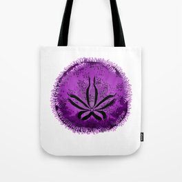 Live Purple Sand Dollar Tote Bag