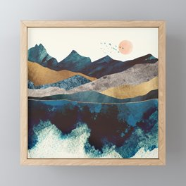 Blue Mountain Reflection Framed Mini Art Print