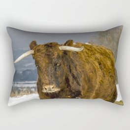Bully The Bull On A Mission Rectangular Pillow