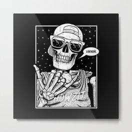 Kiff Bru - Lekker Skeleton Metal Print