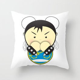 Chun Li Throw Pillow