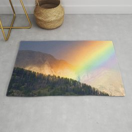 Lucky Rainbow Mountains With Magical Wishes Rug
