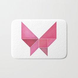 Tangram Pink Butterfly Bath Mat