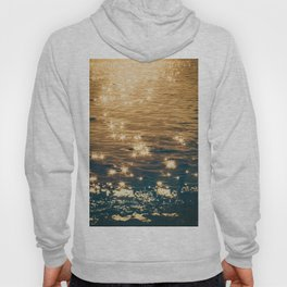 Sparkling Ocean in Gold and Navy Blue Hoody