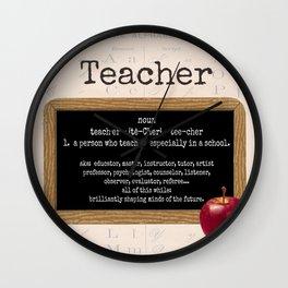 Teacher-Apple Wall Clock
