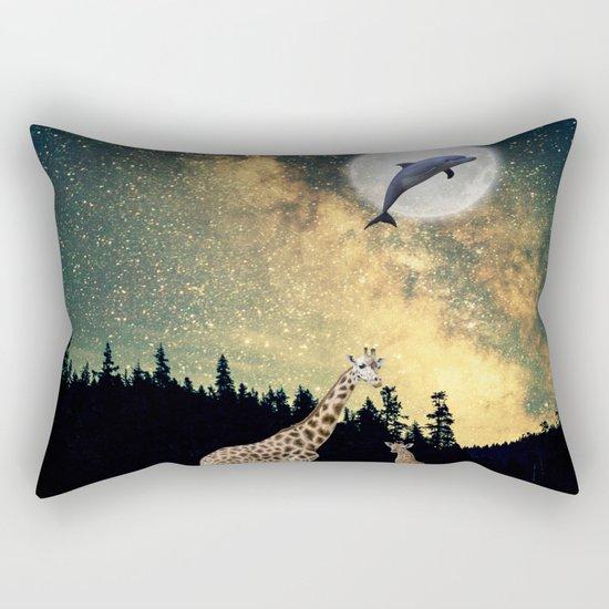 flying dolphin Rectangular Pillow