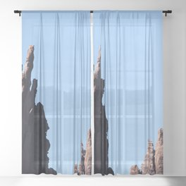 Volcanic Rocks Sheer Curtain
