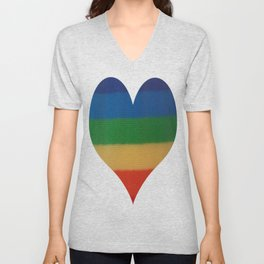 Rainbow Weaved Stripes Unisex V-Neck