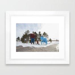 Paul + Babe Framed Art Print